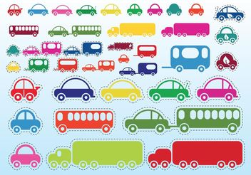 Car Bus Truck - vector gratuit #161489