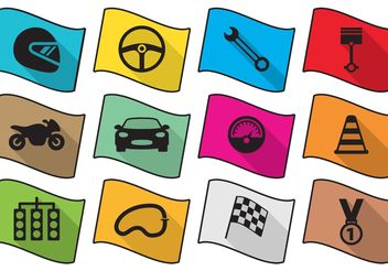 Flat Race Icons - vector gratuit #161509