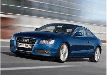 Blue Audi A5 Wallpaper - бесплатный vector #161659