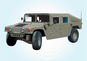 Military Jeep - vector gratuit #161759