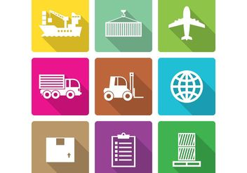 Flat Shipment Icons - Free vector #161779