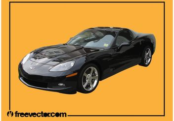 Black Corvette - vector #161929 gratis