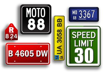 License Plate Vectors - vector gratuit #161969