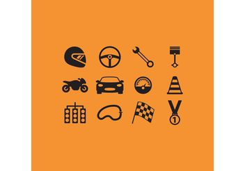 Race Vector Icons - vector #161989 gratis