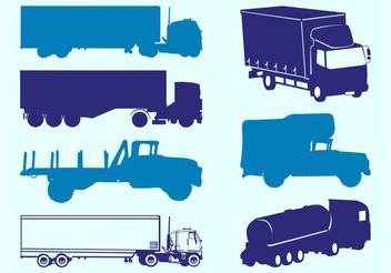 Trucks Silhouettes Graphics - vector gratuit #162069