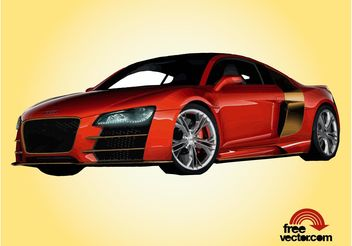 Red Audi R8 - vector gratuit #162179
