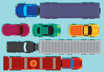Vehicles Arial View Vector - бесплатный vector #162199