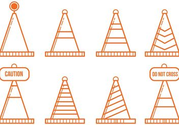 Orange Cone Icon Vectors - Free vector #162219