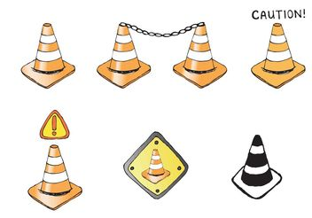 Free Orange Cone Vector Series - бесплатный vector #162239