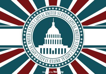 US Capital Retro llustration - vector gratuit #162249