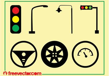 Traffic And Driving Icons - Free vector #162269