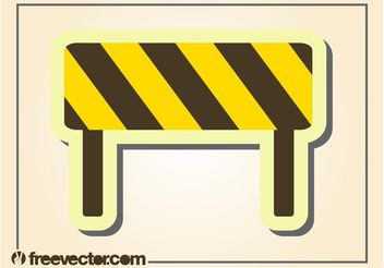 Roadblock Vector - vector gratuit #162329