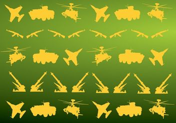 Military Icons Pattern - Free vector #162359
