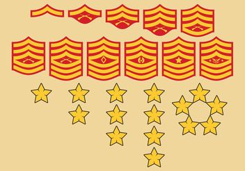 Military Ranks Symbols - vector gratuit #162389