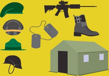 Boot Camp Vector Elements - Free vector #162409