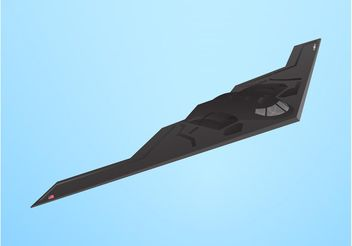 Stealth Bomber Vector - Kostenloses vector #162489