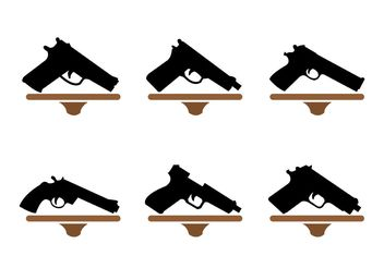 Gun Shape Collection - vector gratuit #162499