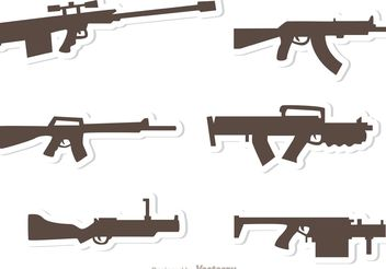 Gun Set Vectors Pack 2 - Free vector #162509