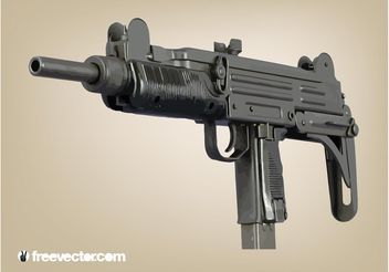 Machine Gun Vector - vector gratuit #162519