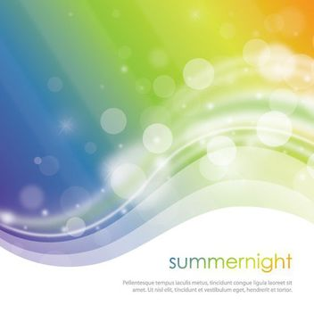 Rainbow Waves Bokeh Background - vector gratuit #162619