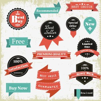 Vintage Promotional Sale Label Pack - Free vector #162629