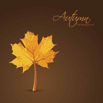 Planted Maple Leaf Autumn Background - vector gratuit #162669