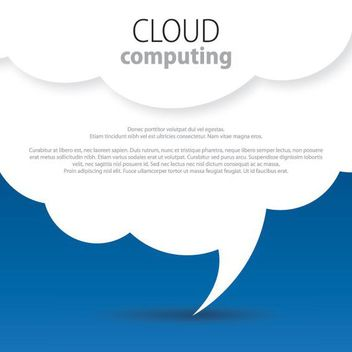 White Clouds Blue Background - vector #162679 gratis