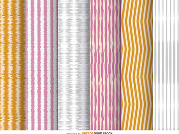 6 irregular stripes backgrounds - Free vector #162809