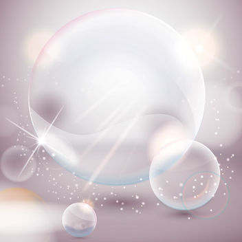 Crystallized Shiny Bubbles Background - vector gratuit #162849