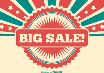 Big Sale Vintage Promotional Banner - vector gratuit #162869