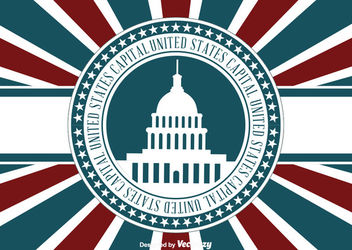US Capital Concept - vector gratuit #162879