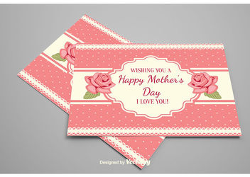 Decorative Mother's Day Floral Card - Free vector #162909