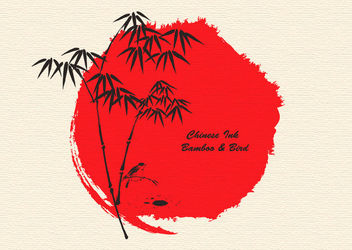 Japanese Tradition Sumi-e Art - Free vector #162959