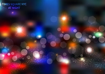 Colorful Times Square Bokeh Light - бесплатный vector #162969