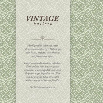 Vintage Floral Pattern Classy Banner - Free vector #162979