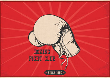 Hand Drawn Vintage Boxing Poster - Free vector #162999