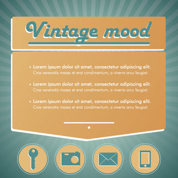 Vintage Mood Technological Infographic - бесплатный vector #163009