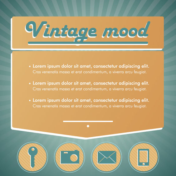 Vintage Mood Technological Infographic - Free vector #163009