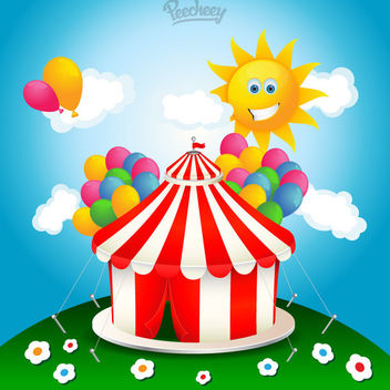 Colorful Funky Circus Background - Free vector #163119