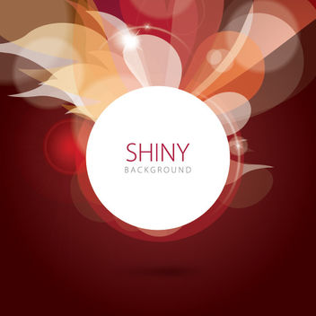 Shiny Swirls Bokeh Circle Background - vector gratuit #163129