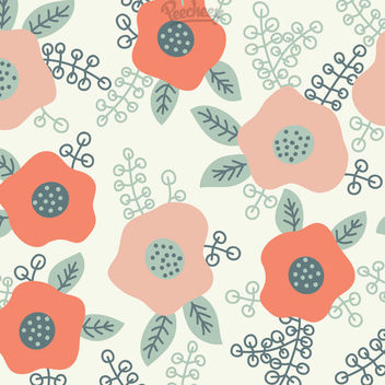 Funny Abstract Floral Seamless Background - Free vector #163169