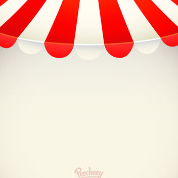Red White Stripy Awning Background - vector gratuit #163179