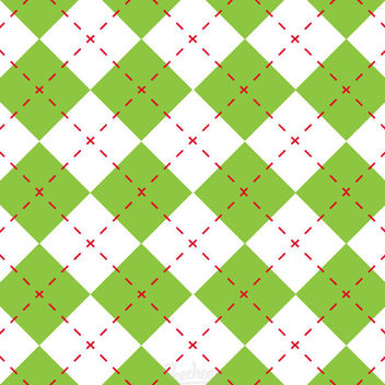 Green Diamond Check Seamless Pattern - vector gratuit #163229