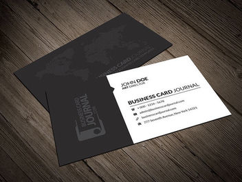 World Map Corporate Business Card - бесплатный vector #163369