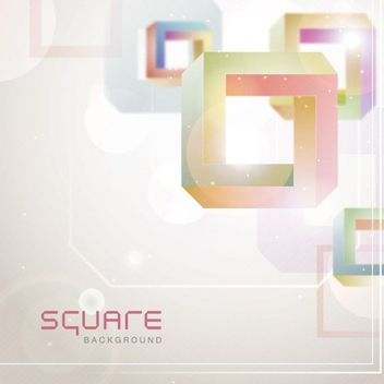 Twisted Colorful 3D Squares Background - vector gratuit #163389