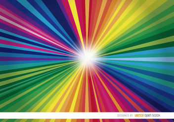 Colorful radial stripes light background - Free vector #163399