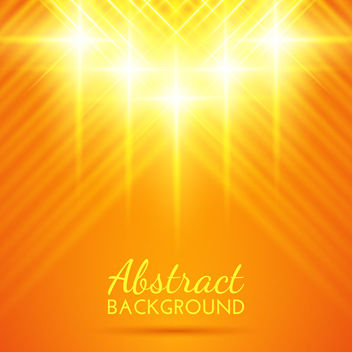 Shiny Yellow Lighting Effect Background - vector gratuit #163419