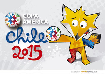 Copa America Chile Zincha Wallpaper - Free vector #163429