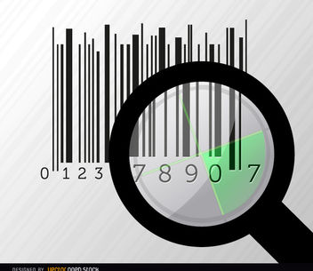 Codebar search magnifying glass radar - Kostenloses vector #163499