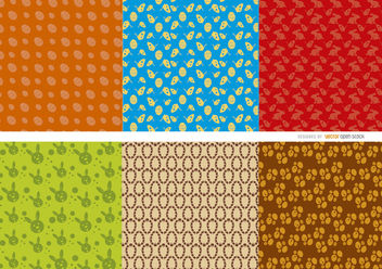 6 Easter Eggs bunnies patterns - бесплатный vector #163589